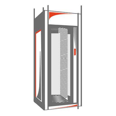 cabine di sicurezza quadrate