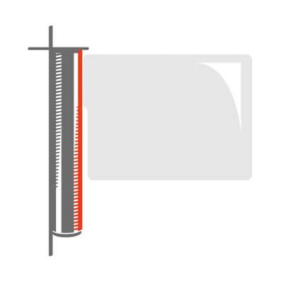cancelli motorizzati con ala in vetro